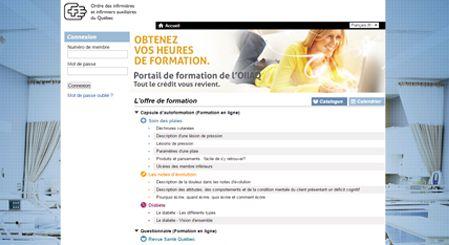 Image portail de l'ordre des infirmières auxiliaires du Québec