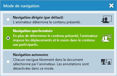 Les modes de navigation de Via eLearning et Via eMeeting